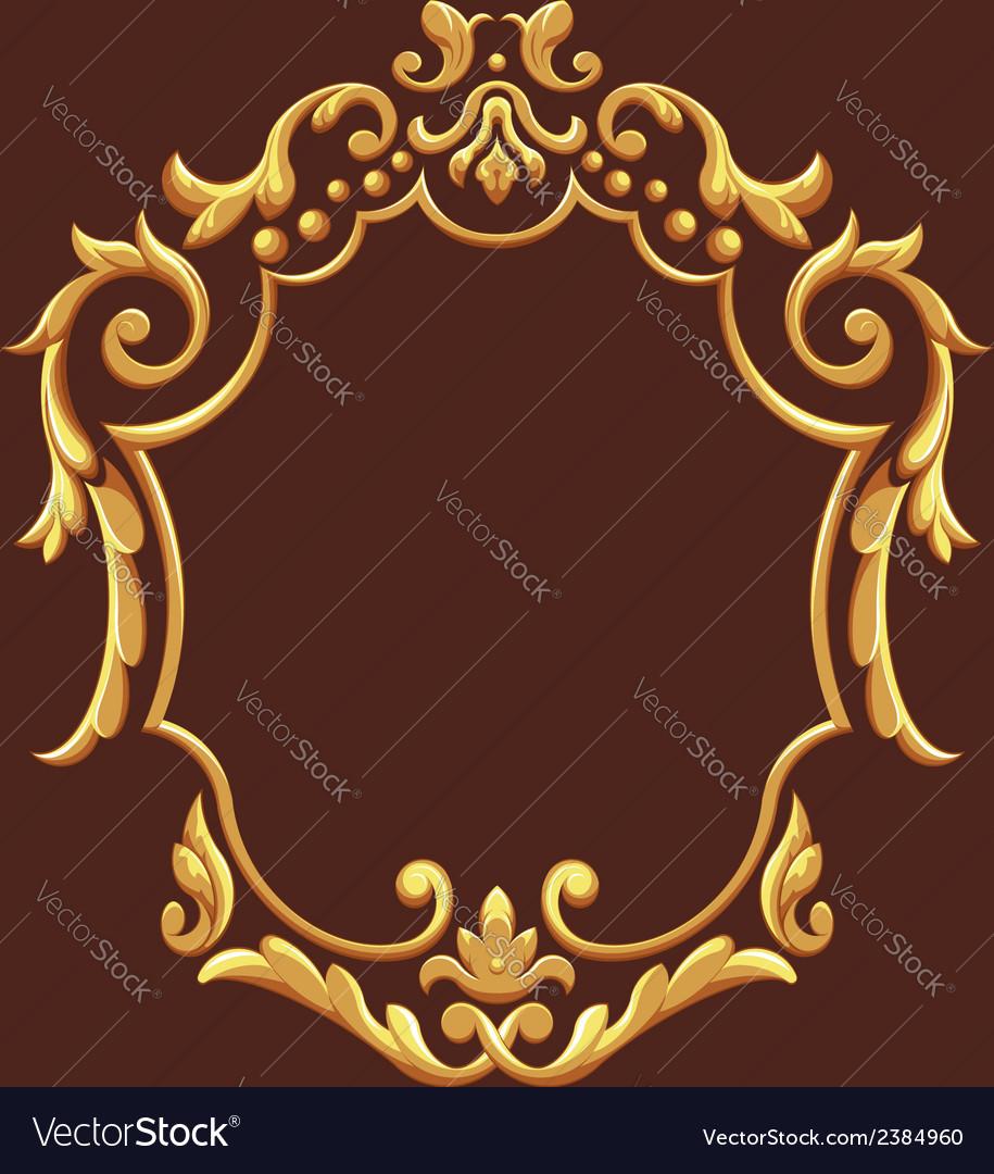 Golden royal ornament vector