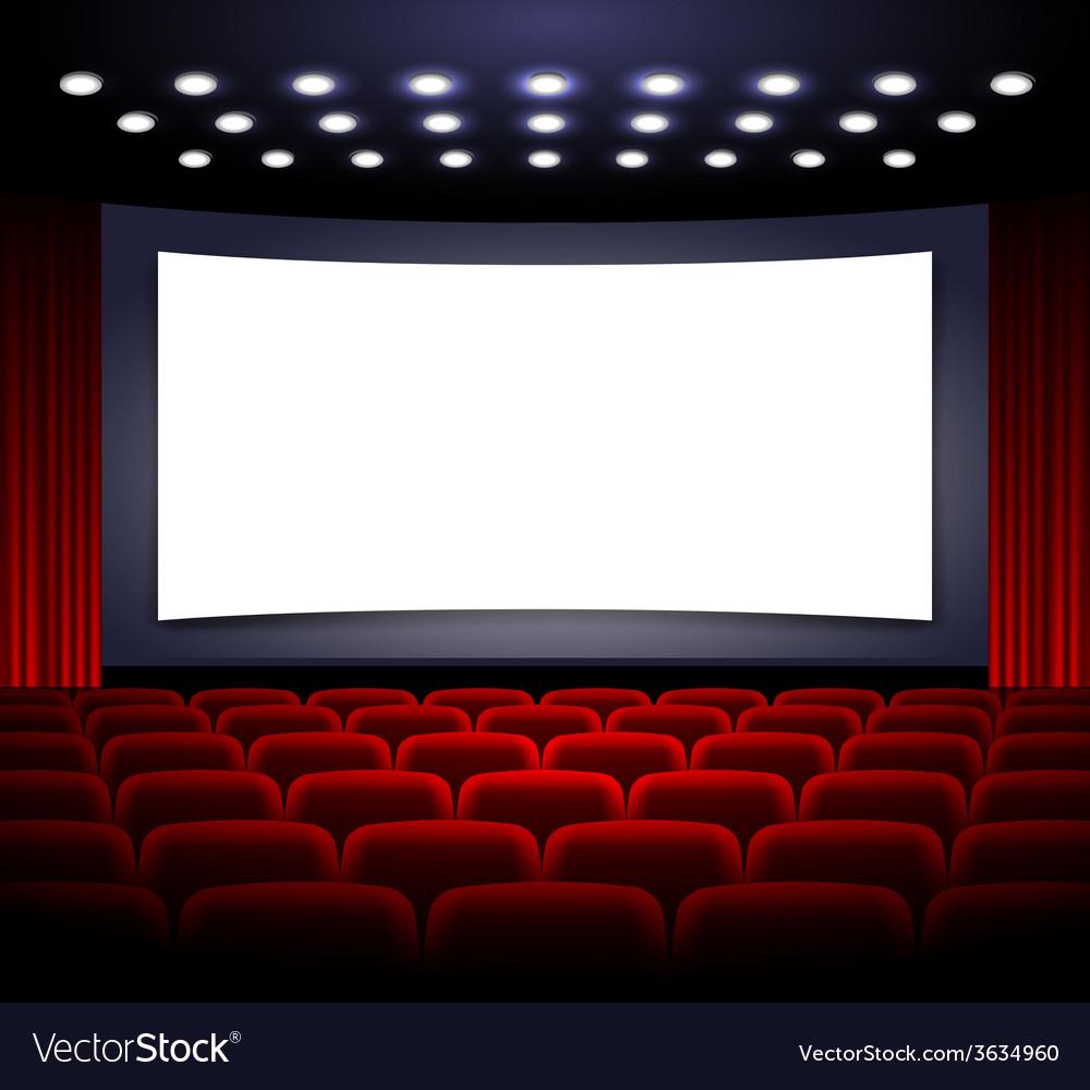 Movie theatre design vector