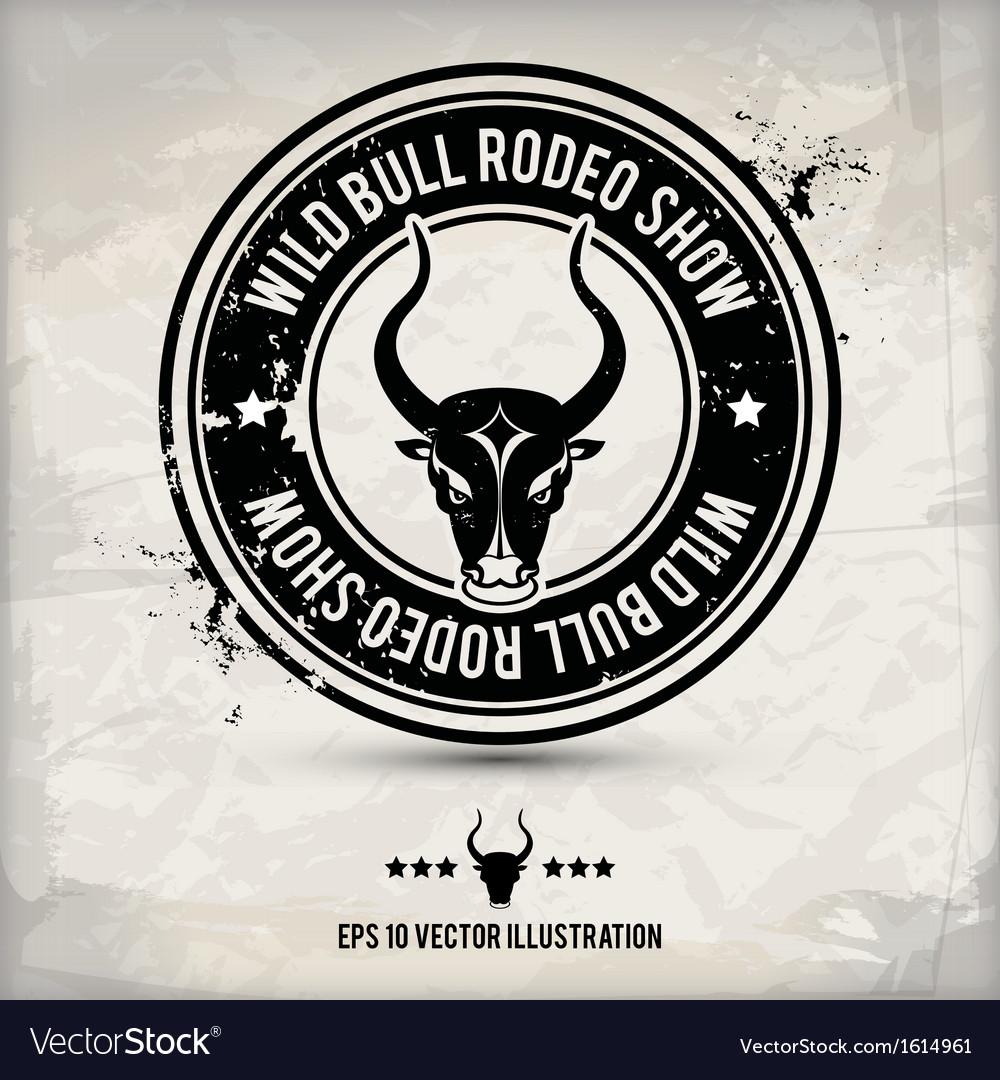 Alternative bull stamp vector