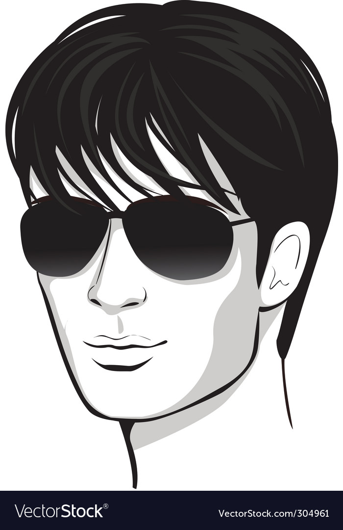 Face man design element vector