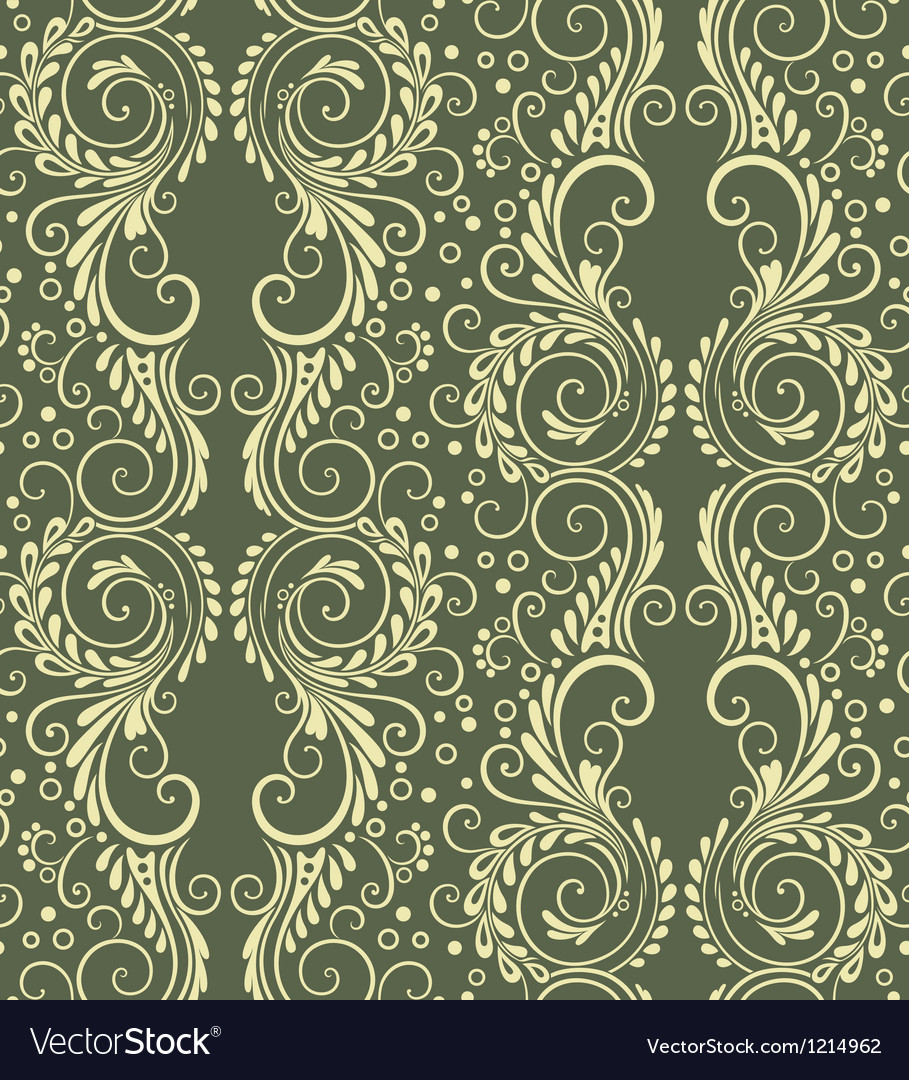 Abstract decorative seamless floral background vector