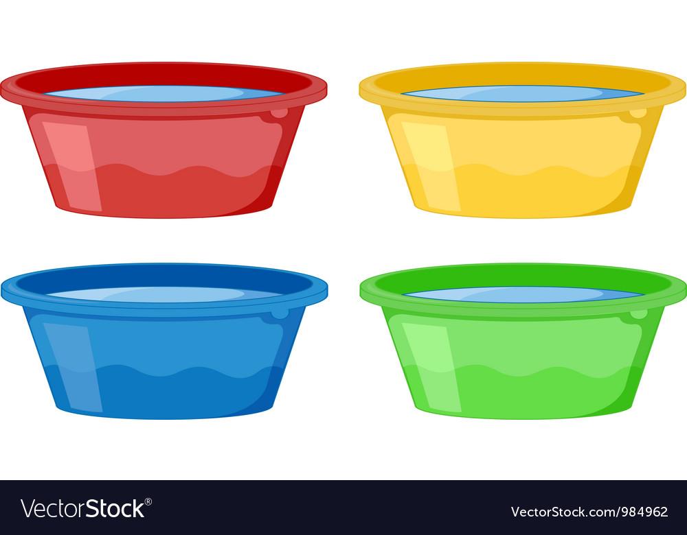 Water tubs vector