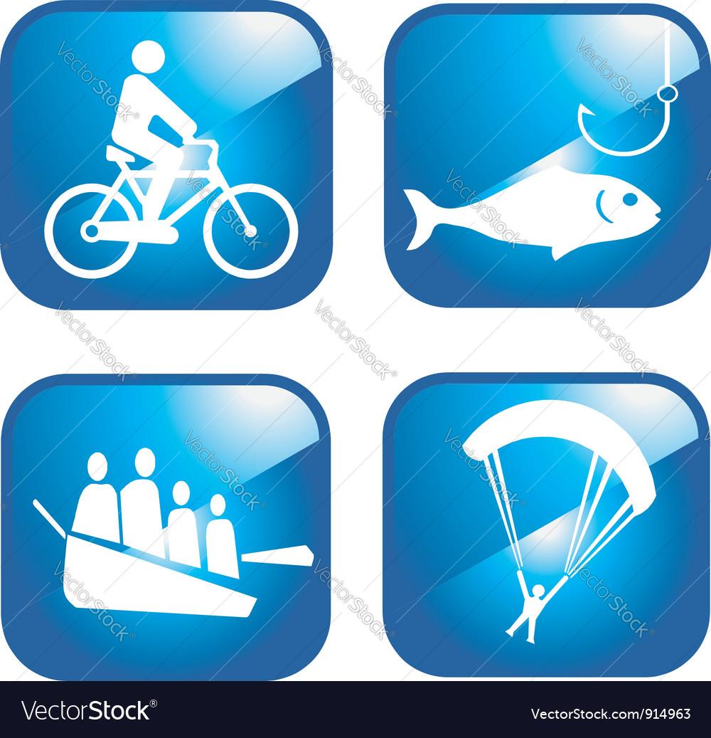 Adventure sport icons vector