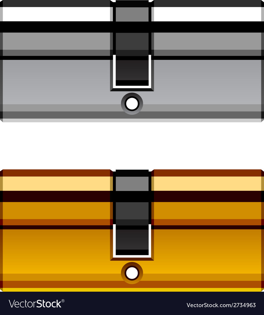 Door lock cylinder cartridge vector