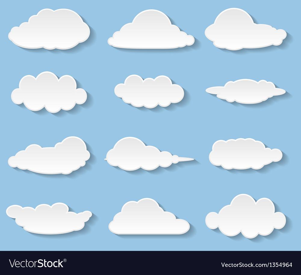 Clouds set vector