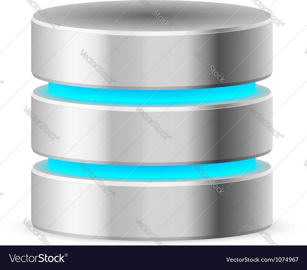 Data base icon vector