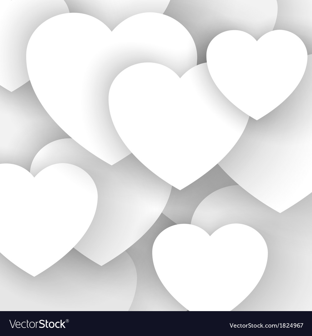 Heart applique background vector
