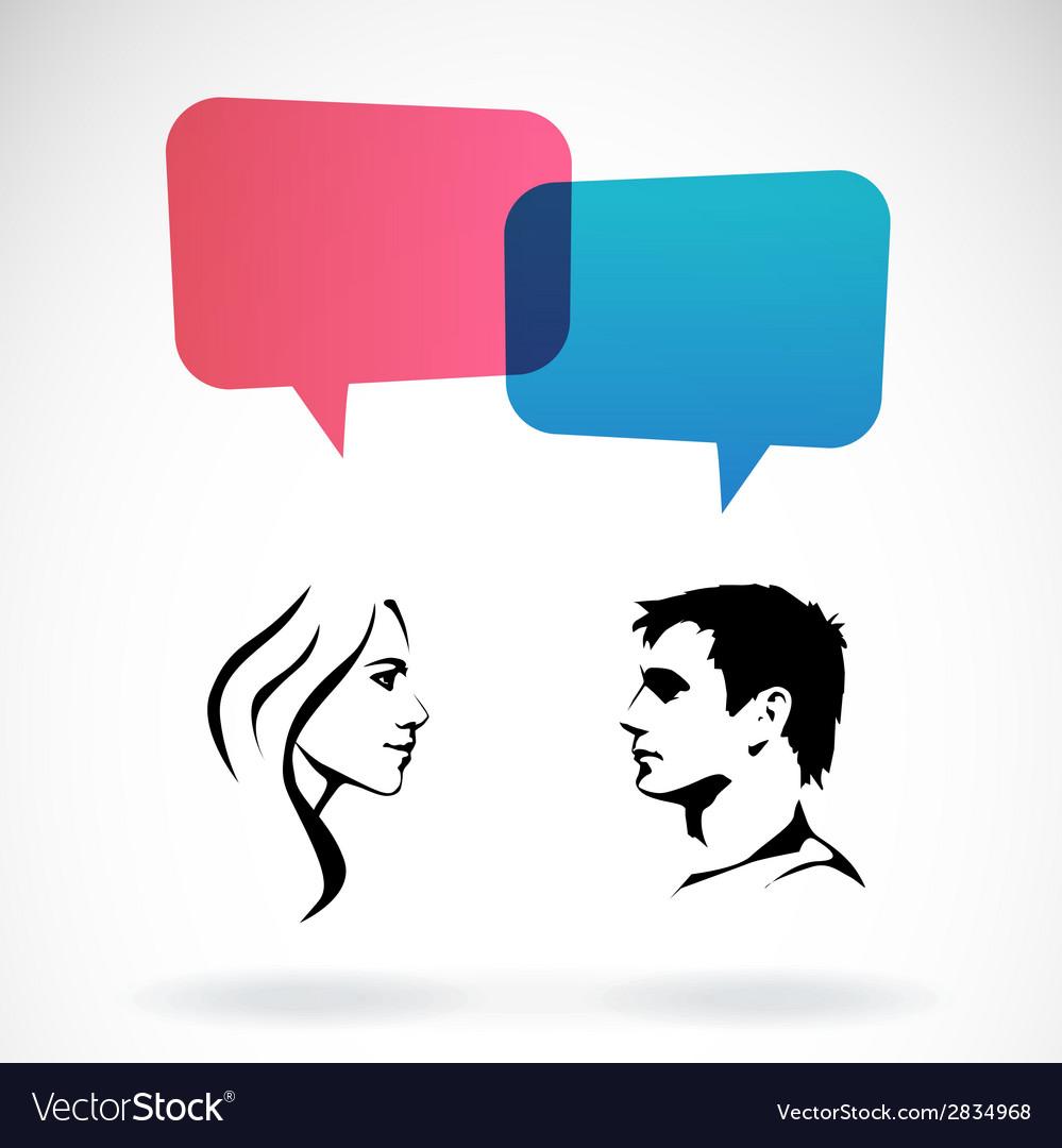 Men and women vector