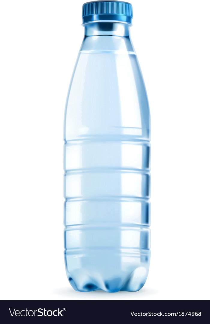 Water bottle object vector
