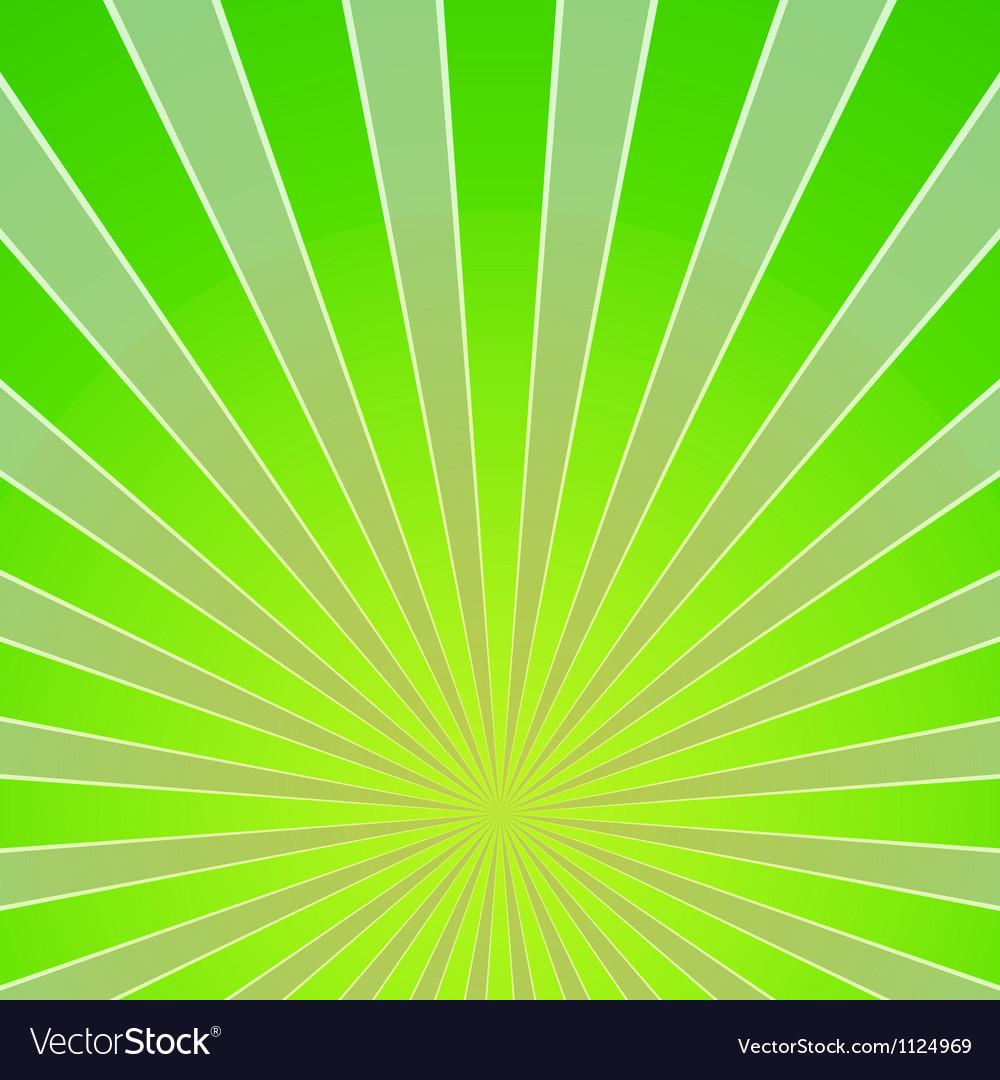Green light beam background vector