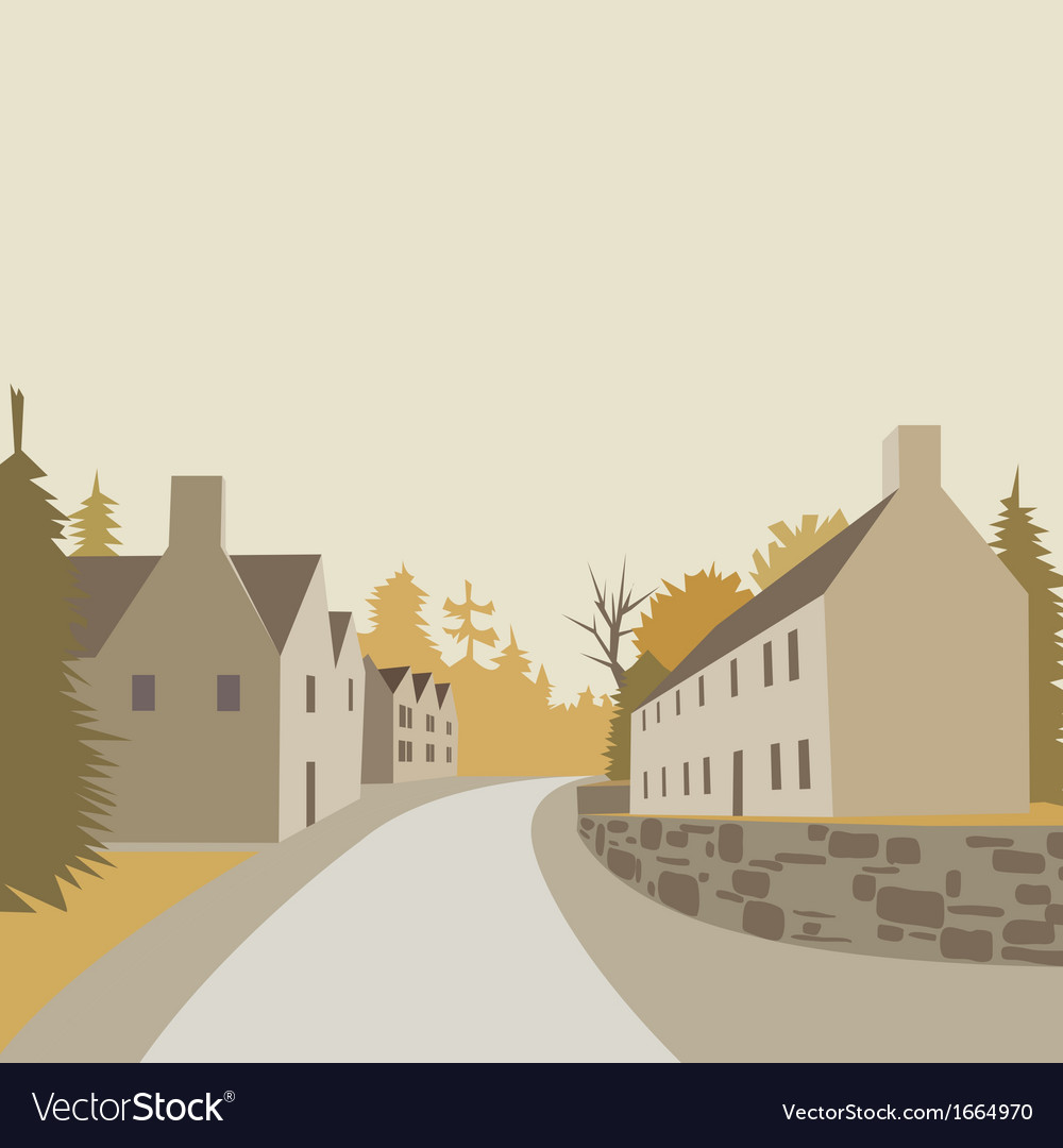 Mountain village background vector