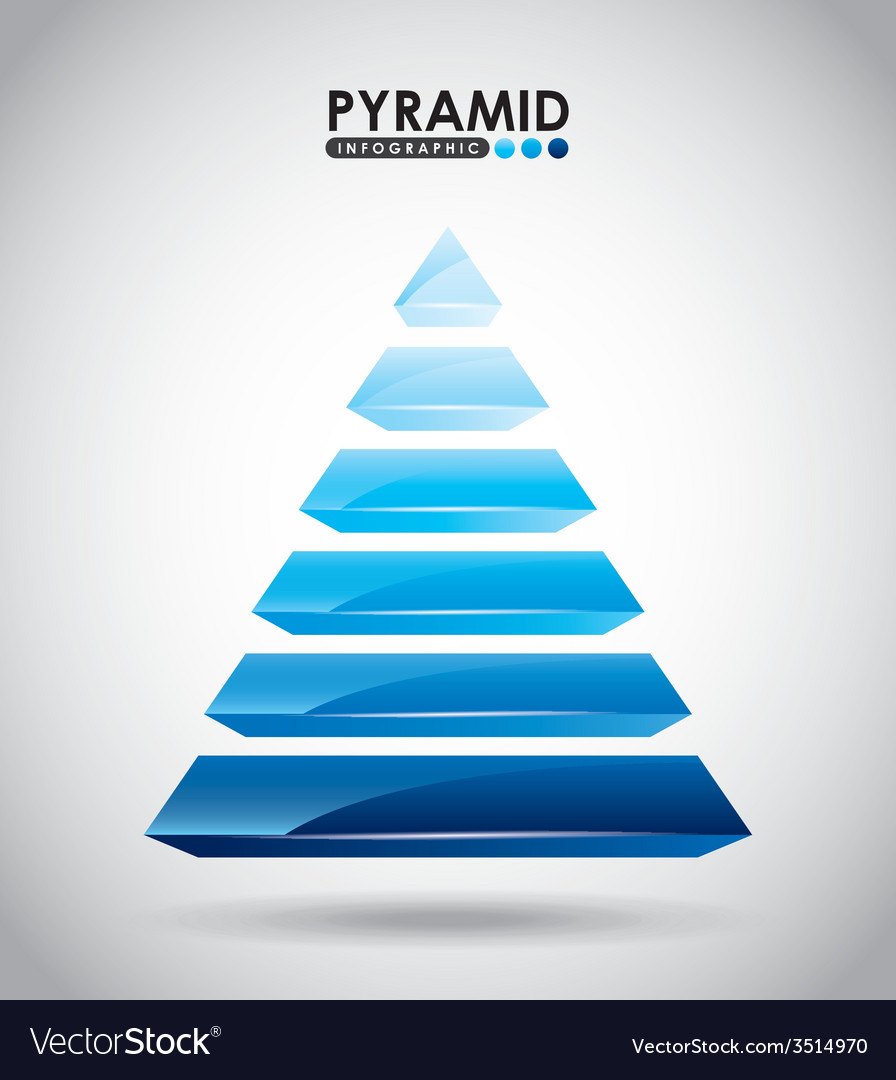 Pyramid infographic vector
