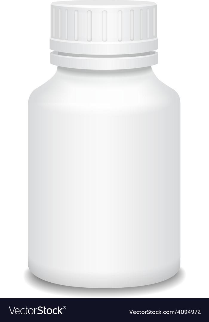 Blank medicine bottle vector