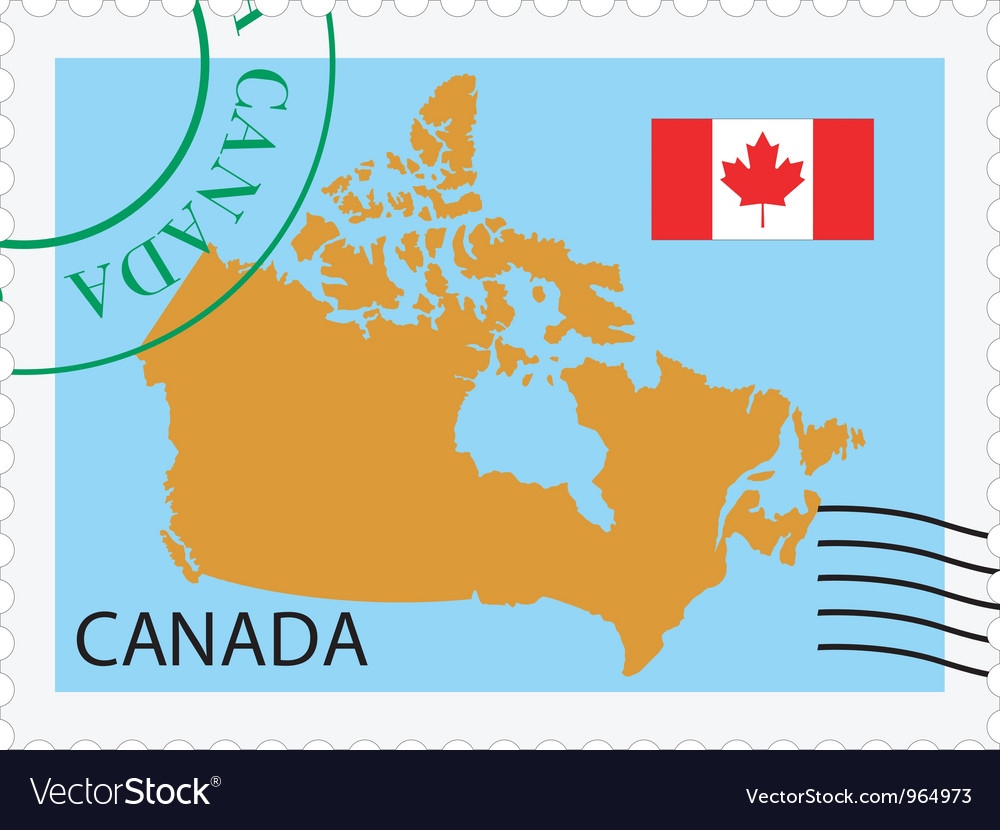 Mail to-from canada vector