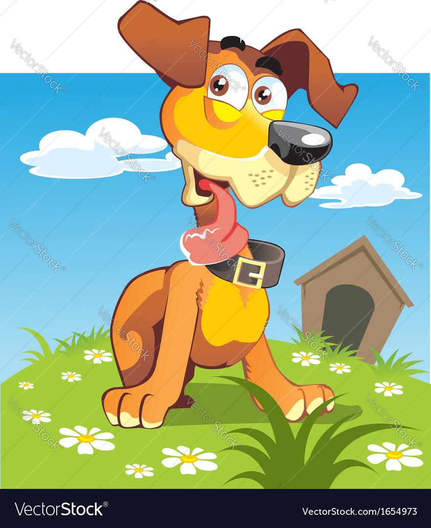 Puppy bright vector