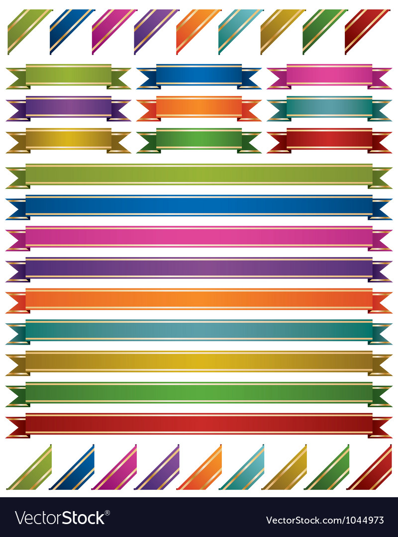 Shiny ribbons vector