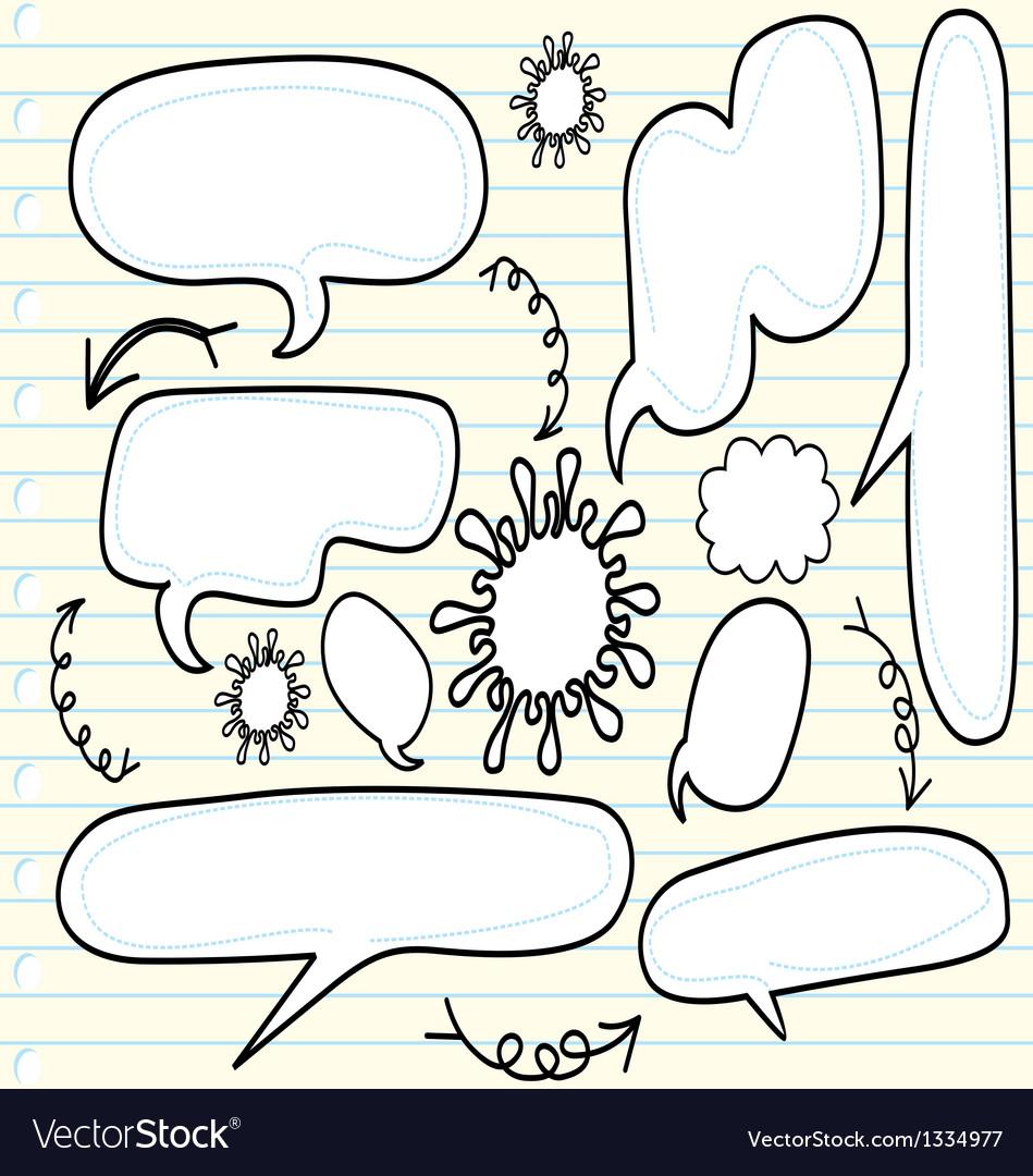 Sketchy bubble speech vector