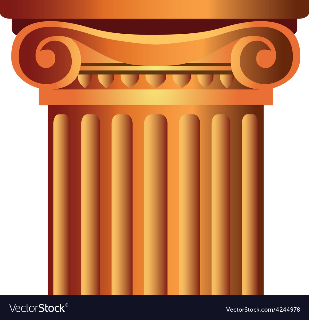 Decorated column top capital vector