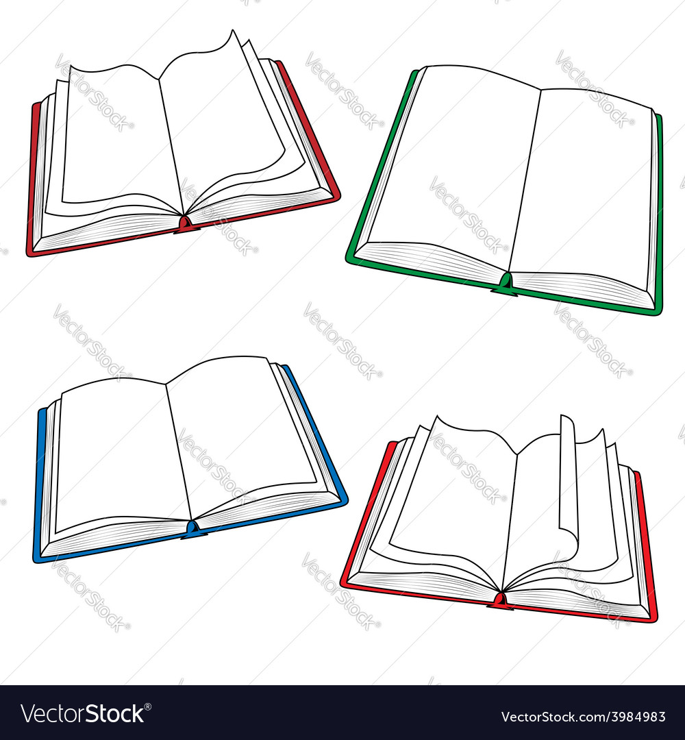 Open books vector