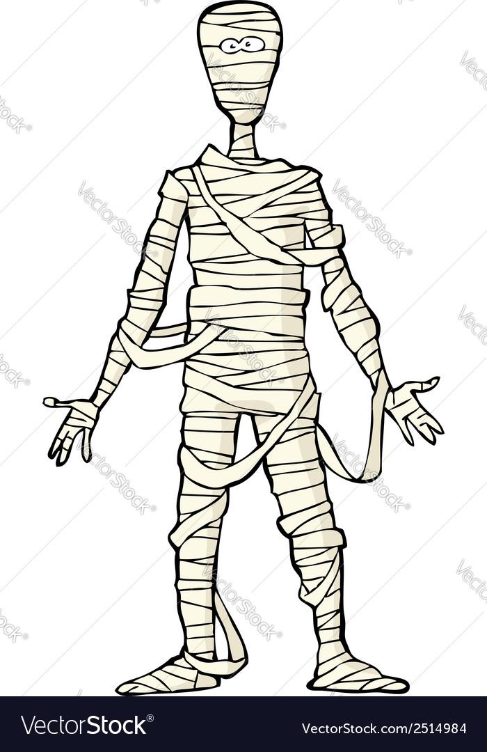 Ancient egyptian mummy vector