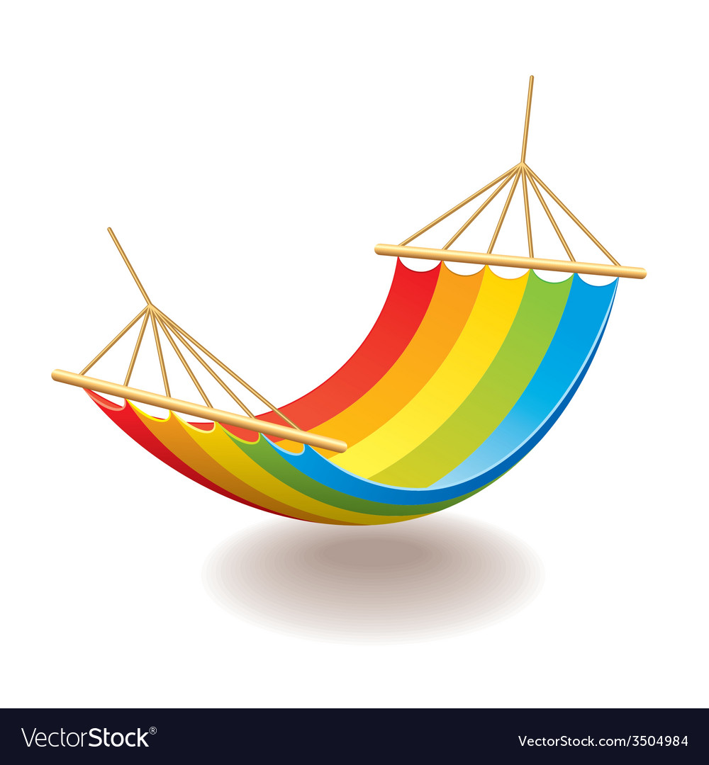 Hammock isolated vector