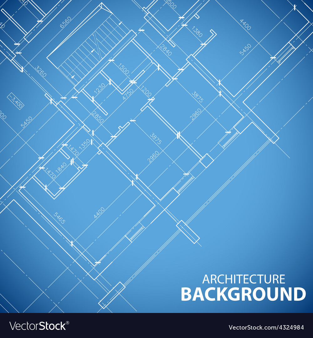 New building plan background vector