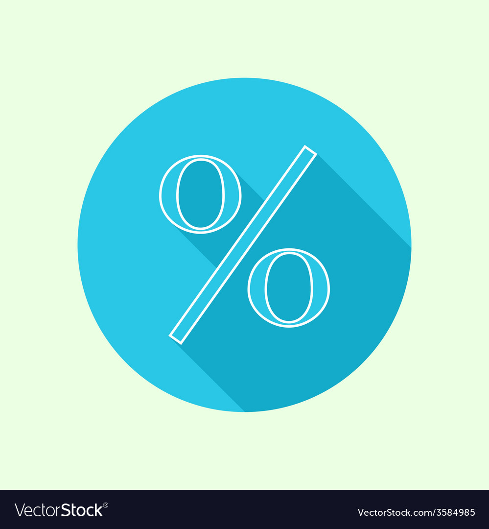 Icon percent vector