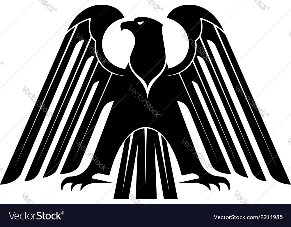 Proud black eagle silhouette vector