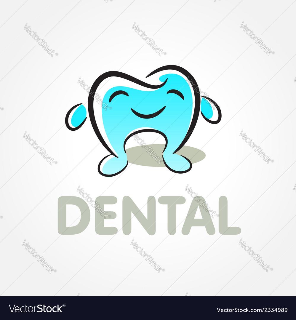 Dental tooth smile symbol emblem sign vector