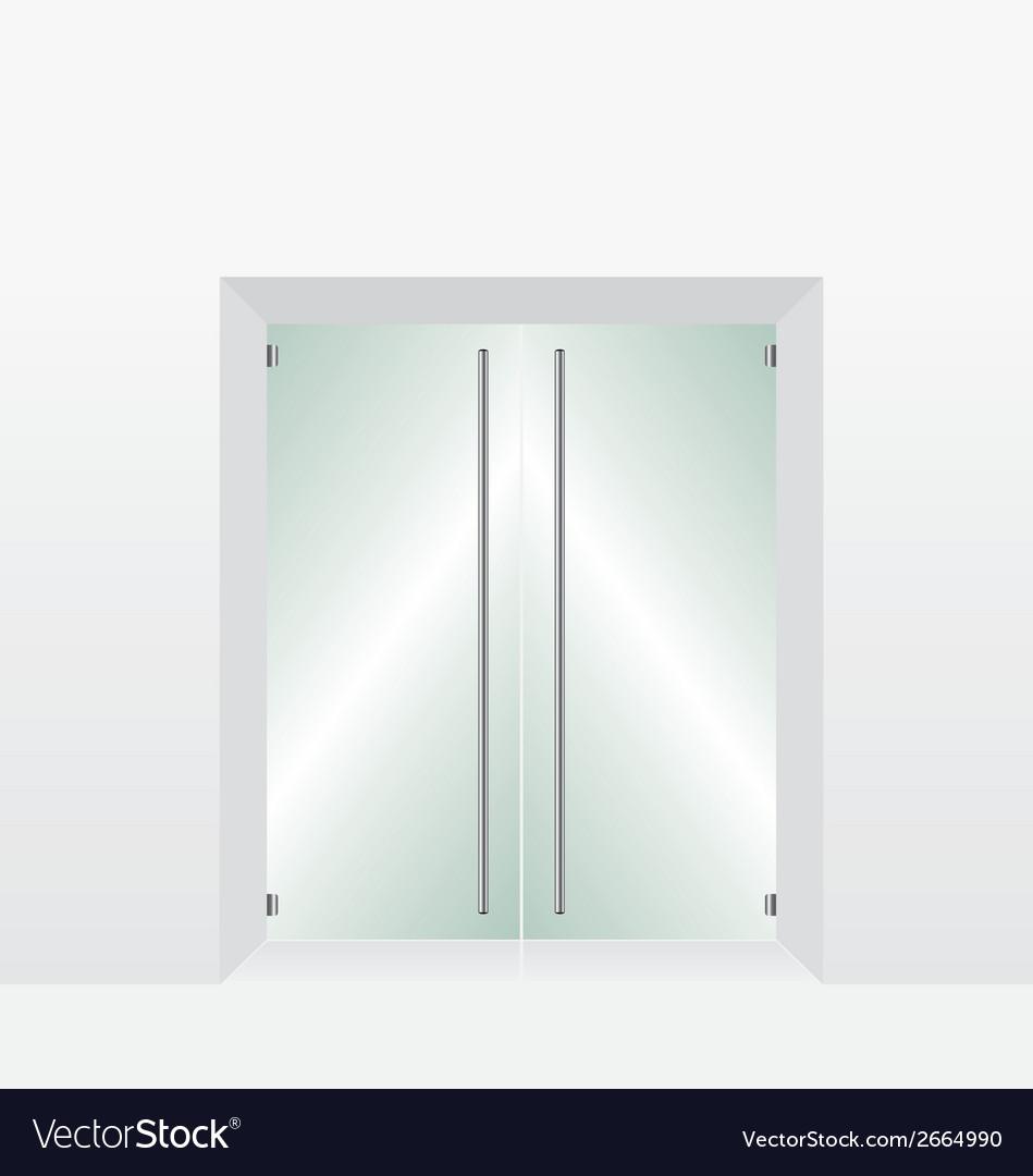 Glass transparent door vector