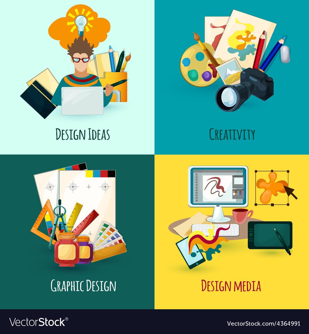 Designer concept set vector
