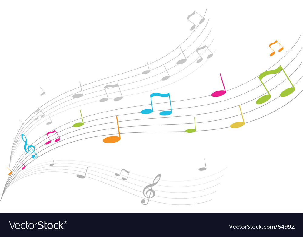 Music waves vector