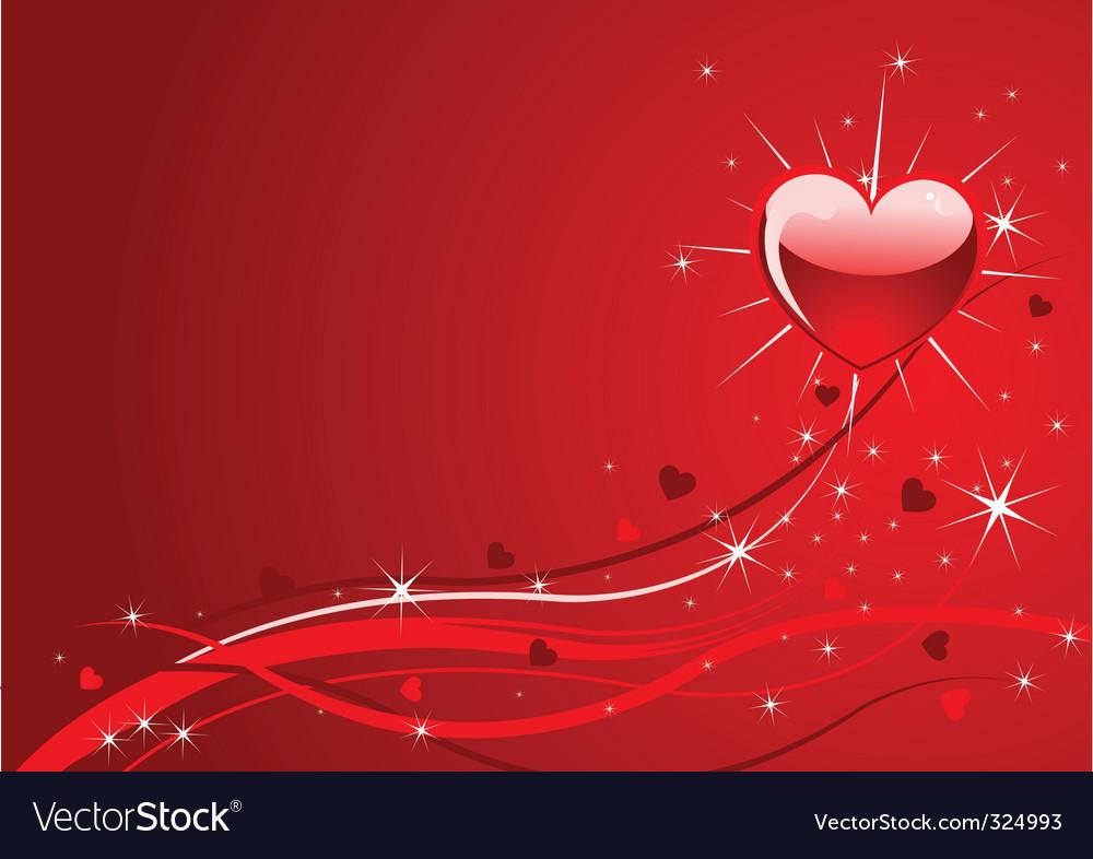 Sparkle red valentine background vector