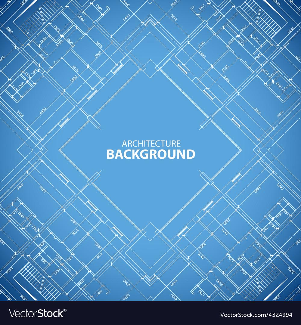 Blueprint building structure background vector
