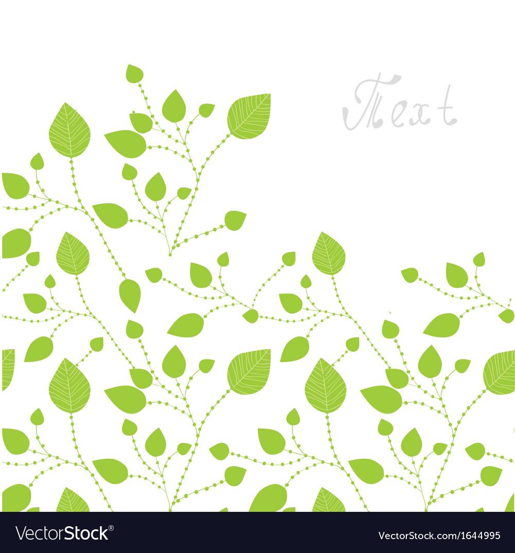 Green leaves bacgkround vector