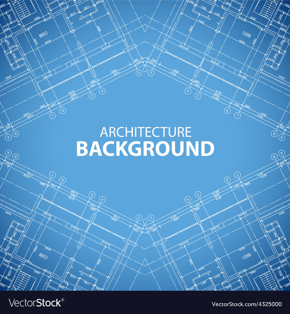 Unique building structure background vector
