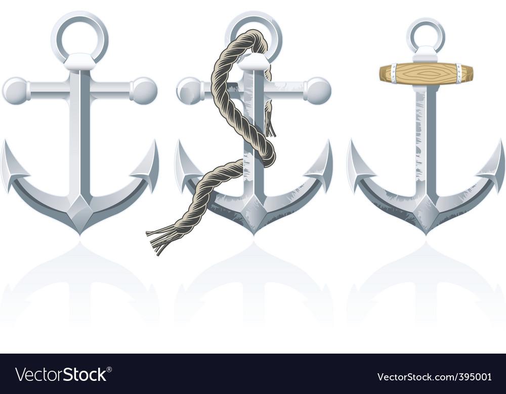 Rusty anchor vector