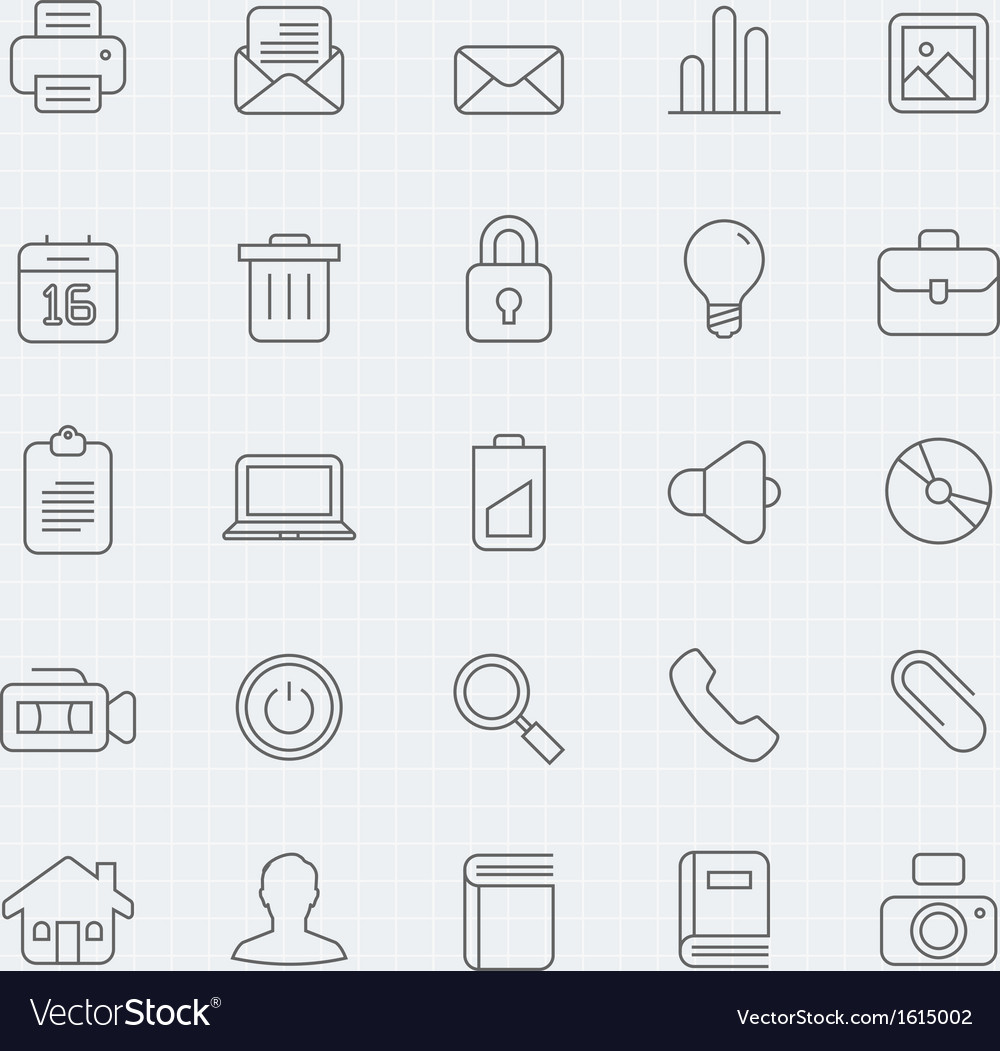 Generic thin line symbol icon vector