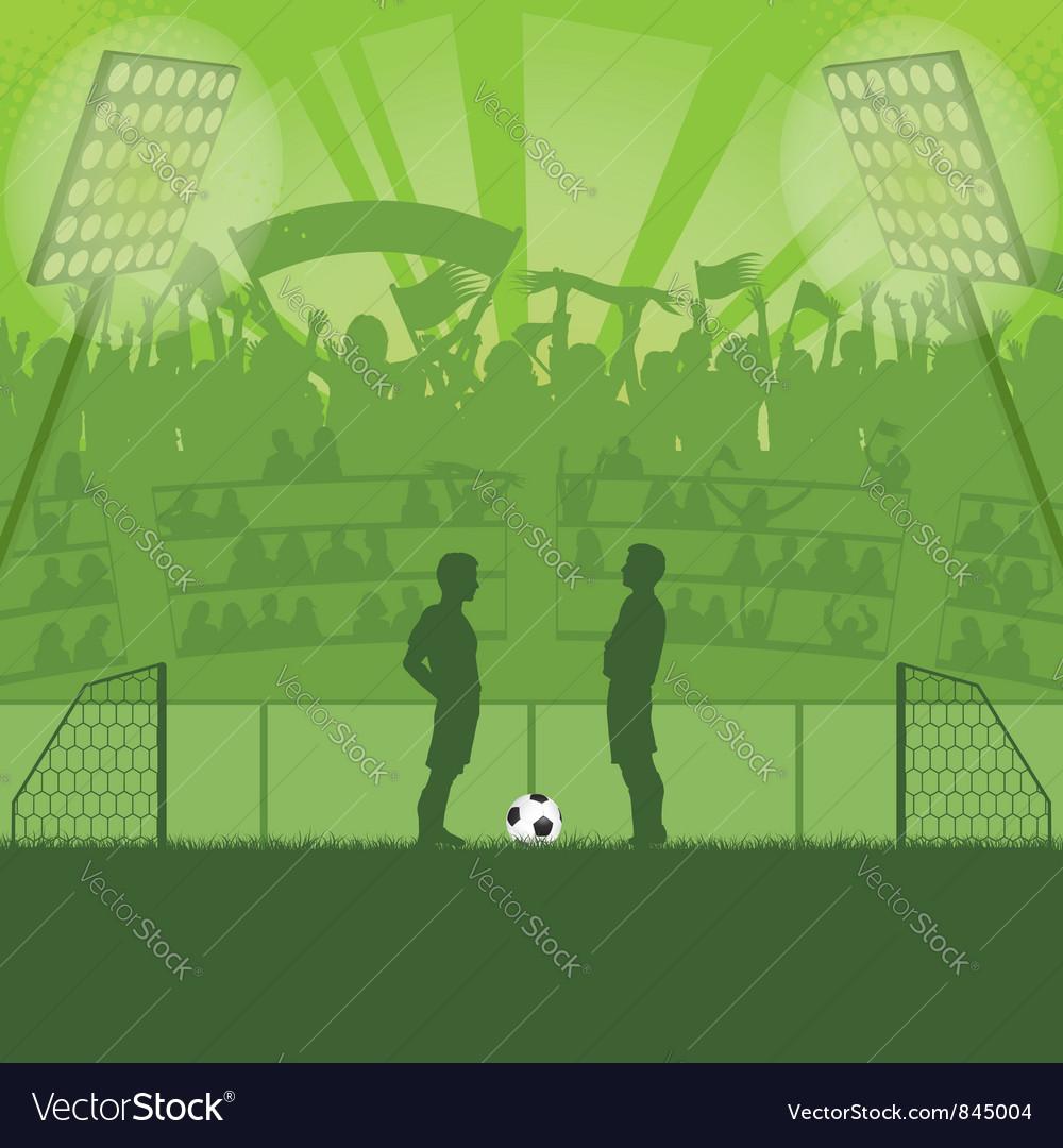 Soccer stadium vector