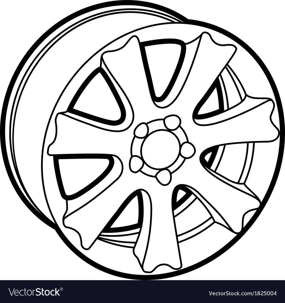Wheel on white vector