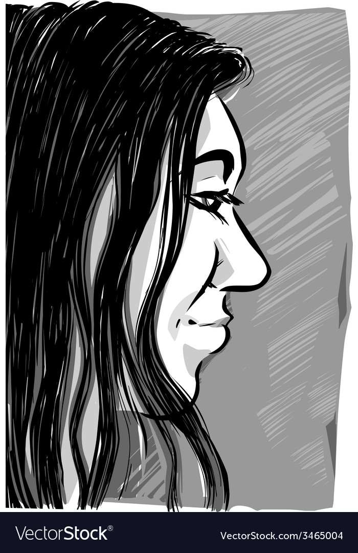 Woman sketch drawing vector