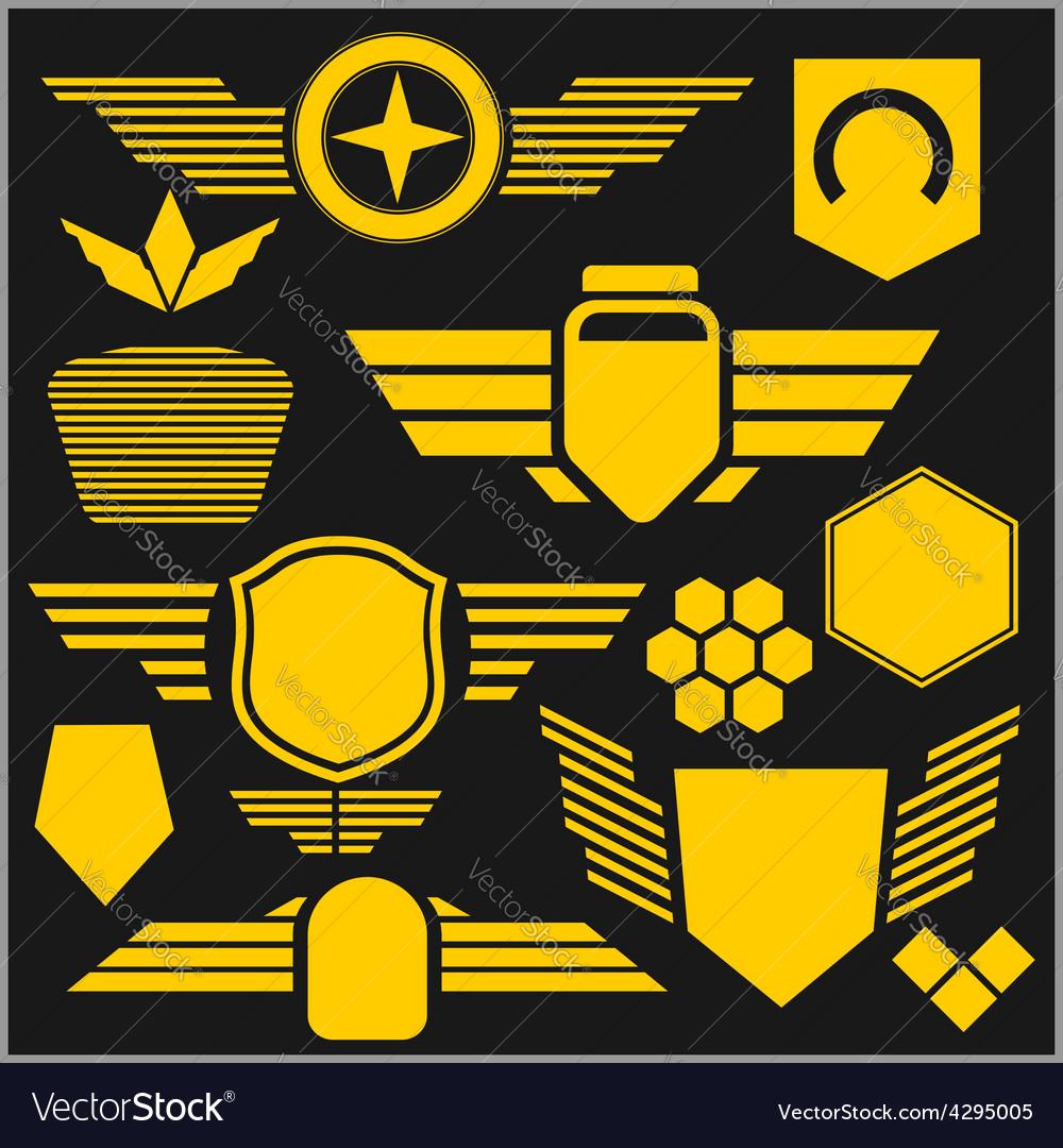 Military symbol icons - set vector