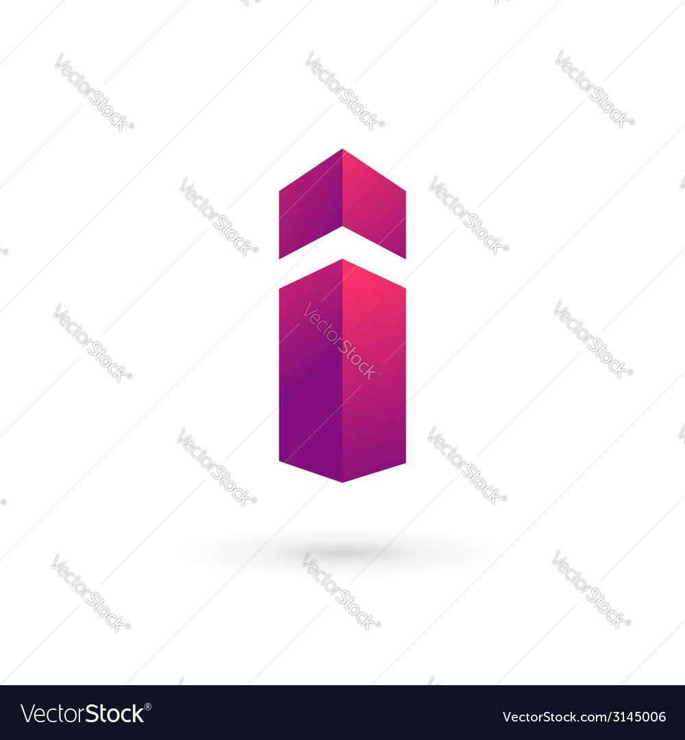 Letter i logo icon design template elements vector
