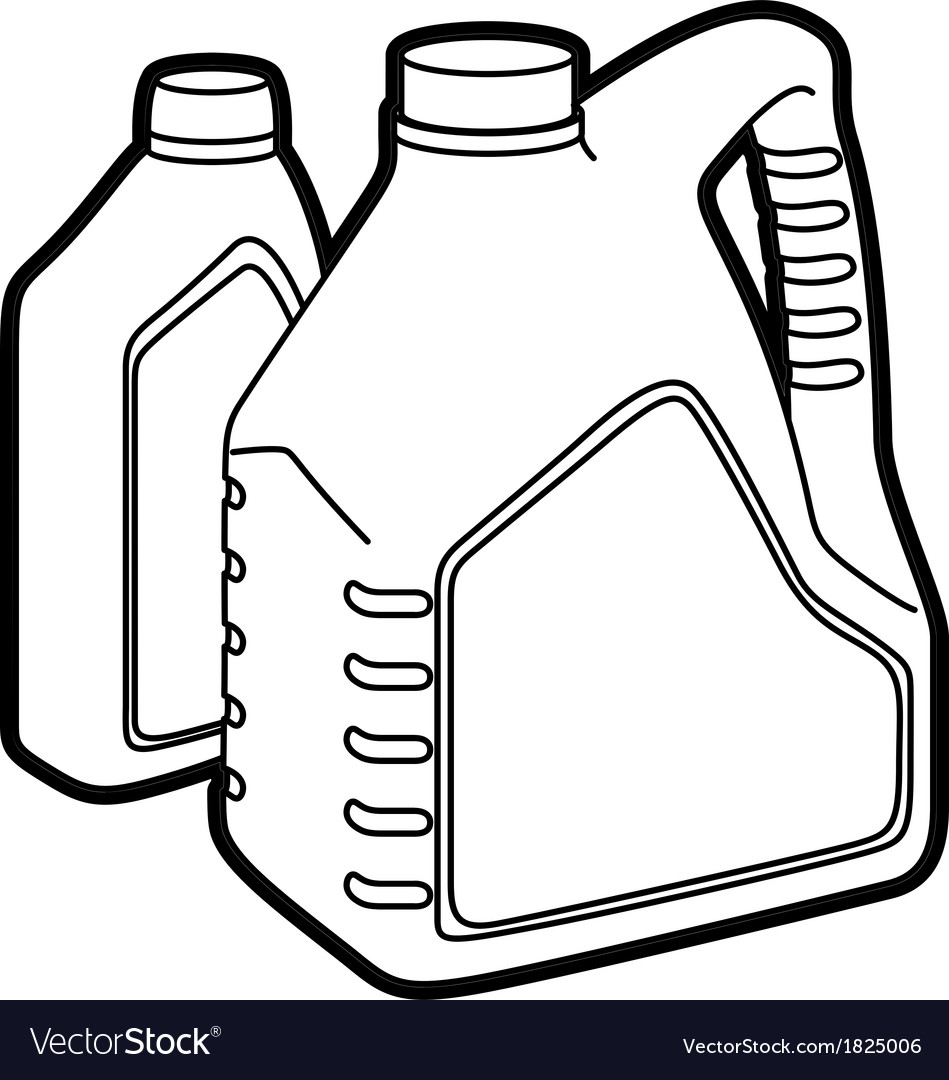 Machine oil vector