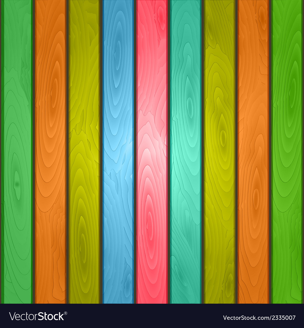 Colorful wood plank background vector