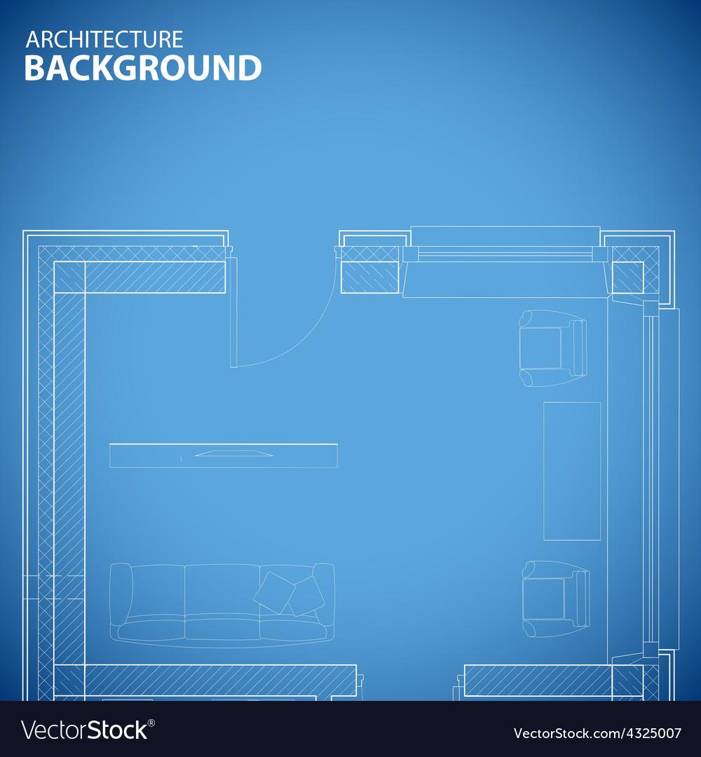 Unique building background vector