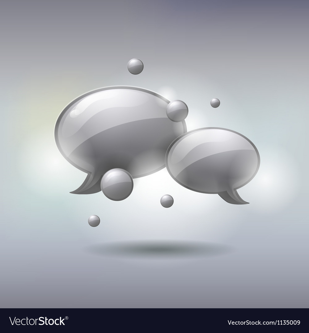 Speech and thought bubbles social media concept vector