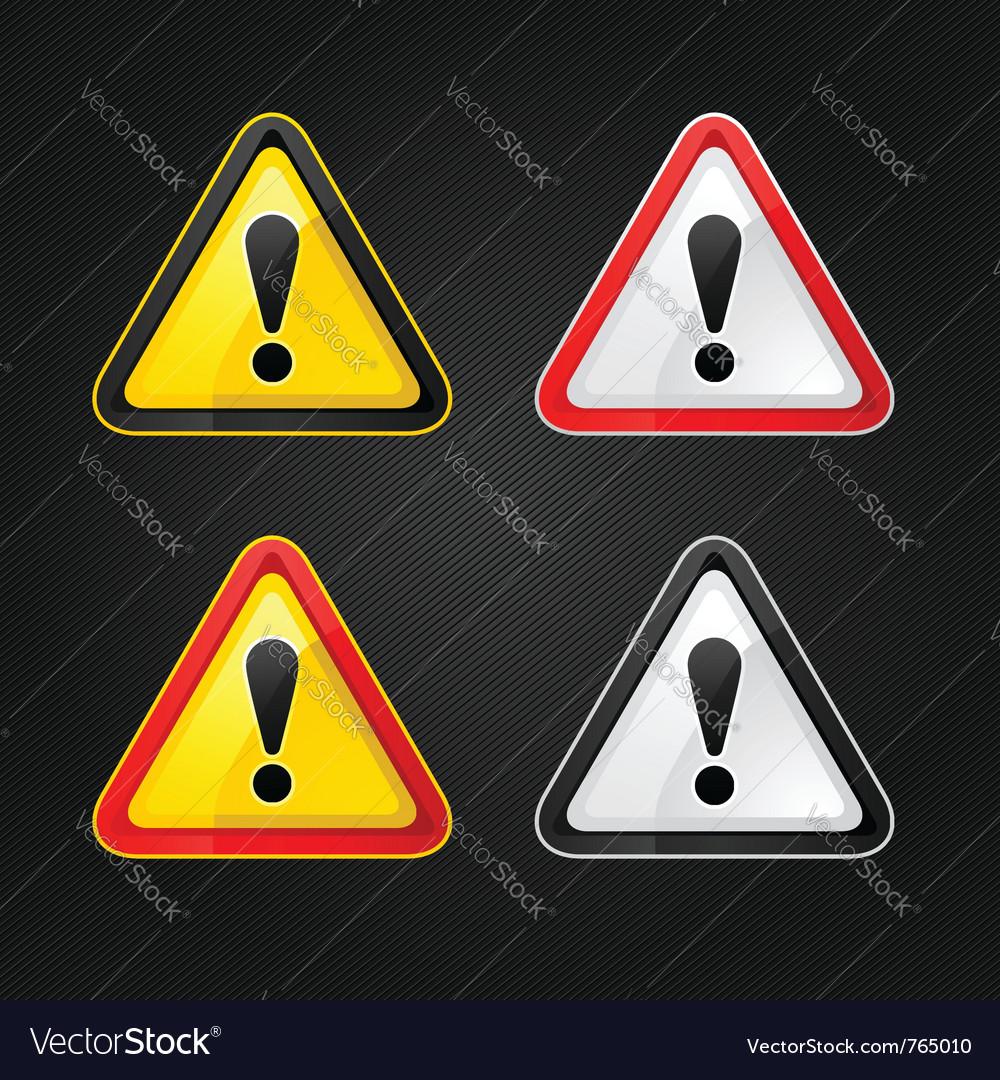 Hazard warning sign vector