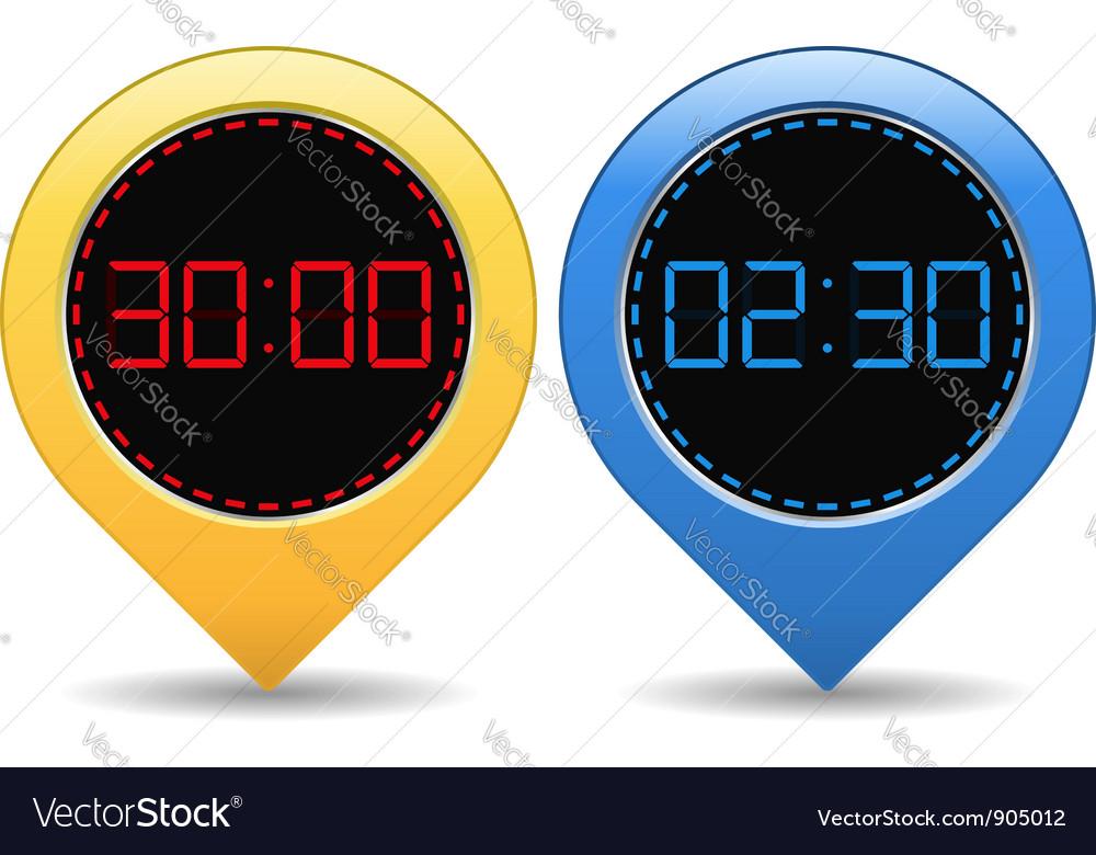 Digital timers vector