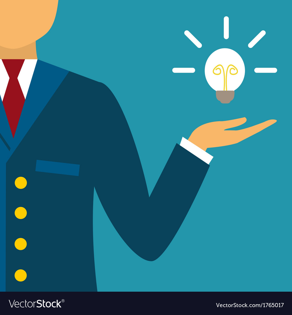 Innovative business idea vector